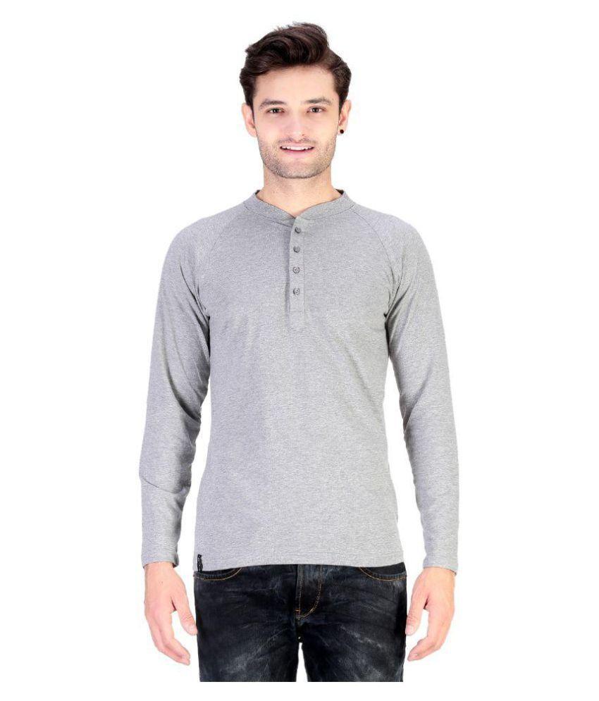 Cofagif Grey Henley T-Shirt