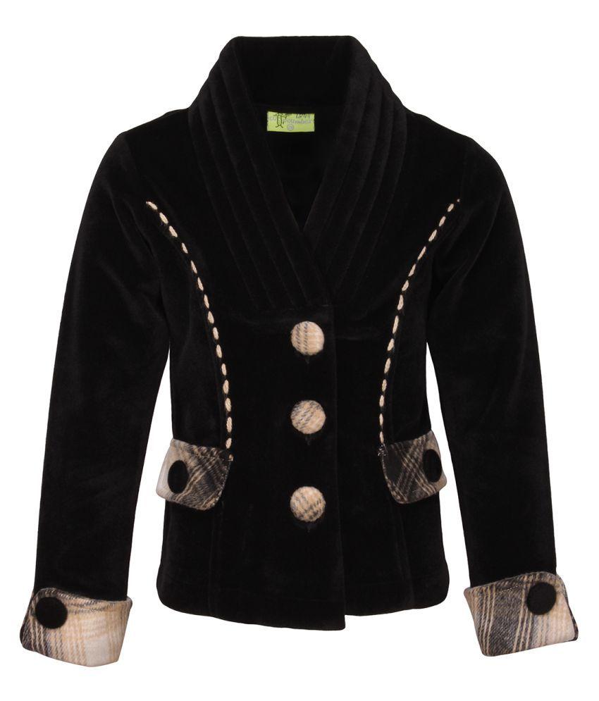 Cutecumber Black Velour Coats