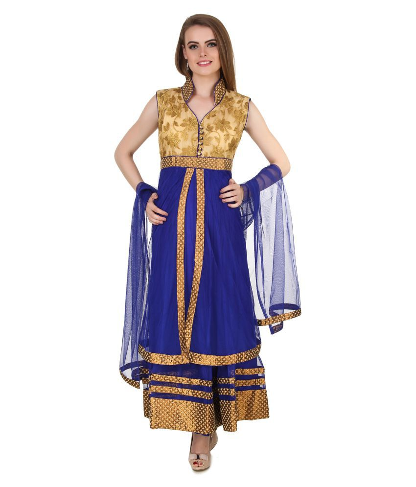 Fasense Multicoloured Net Anarkali
