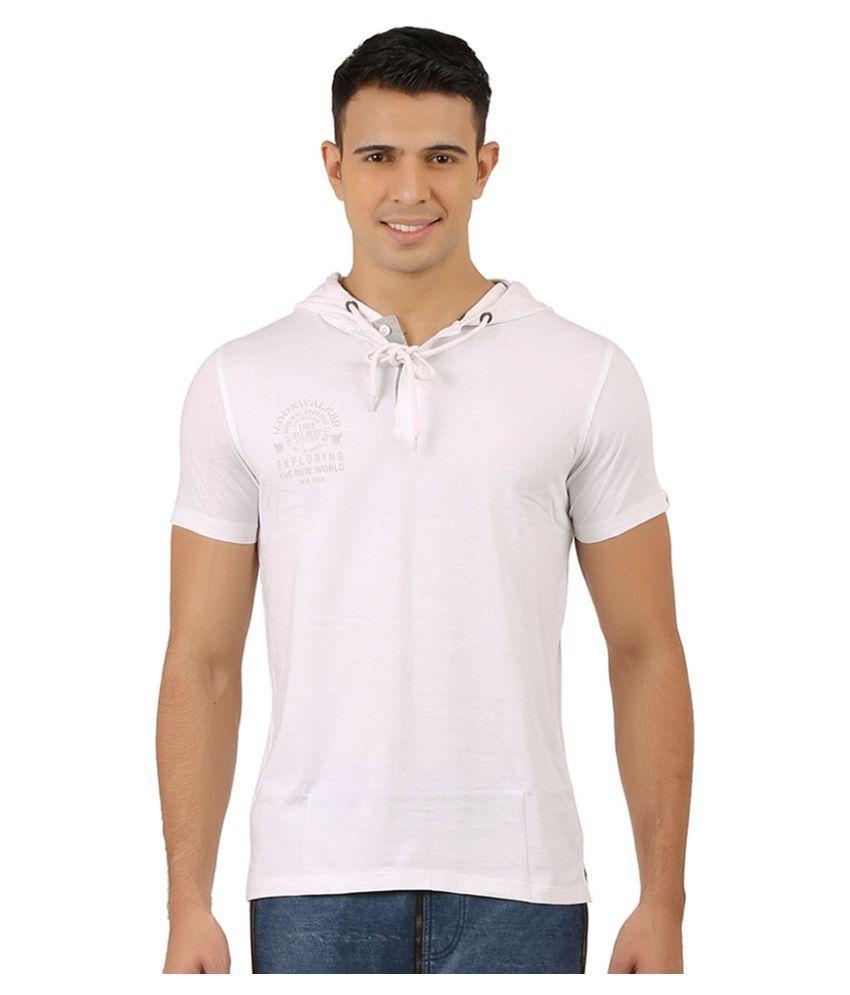 Moonwalker White Hooded T-Shirt