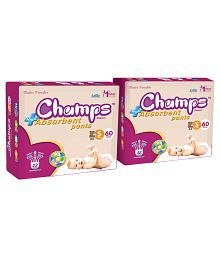 Champs High Absorbent Pant Style Diaper Small 60 Pieces - Pack of 2