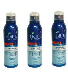 Engage Engage Fiama Di Wills Aqua Pulse Deodorant Spray Buy 2 Get 1 Free - For Men (200 Ml Each) 200ml 200ml