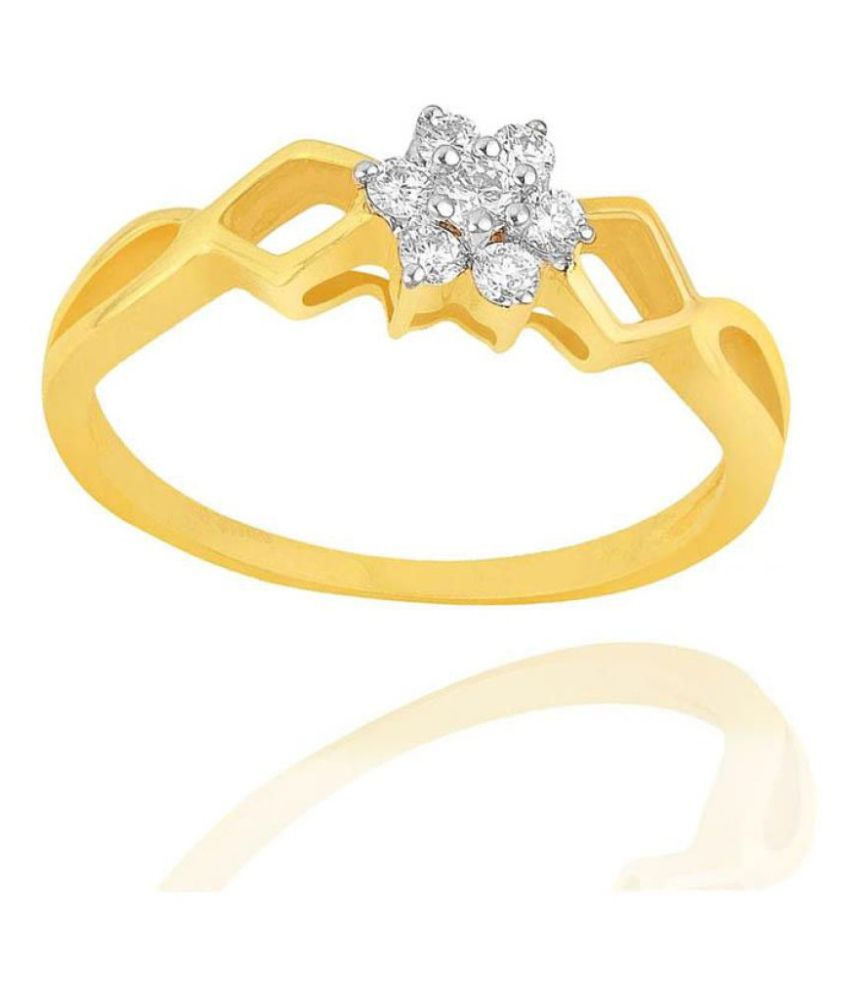 Shuddhi 18k Yellow Gold Diamond Ring