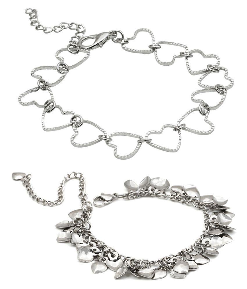 Trend Arrest Silver Bracelet - Pack of 2
