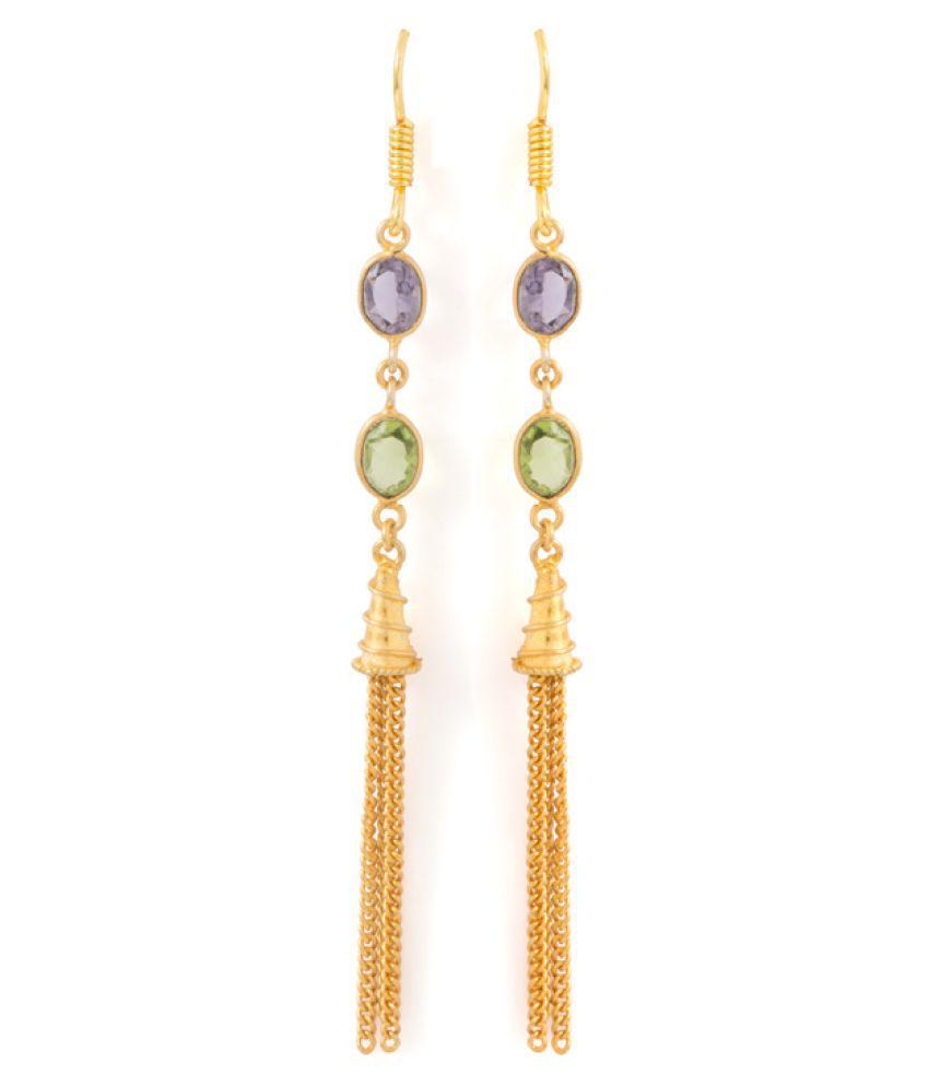 Voylla Golden Earrings