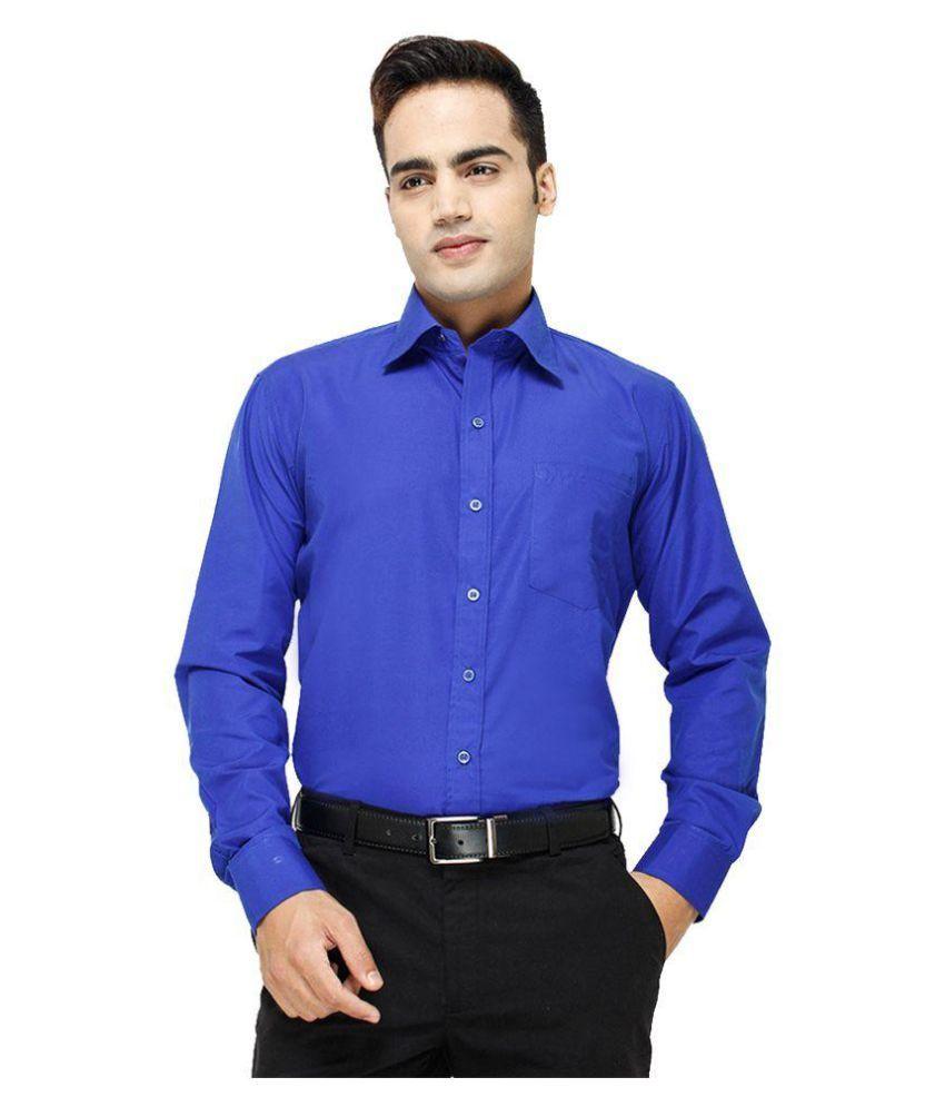 Blue Ocean Blue Formal Slim Fit Shirt