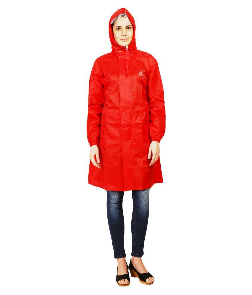 Zeel Red Polyester Short Rainwear