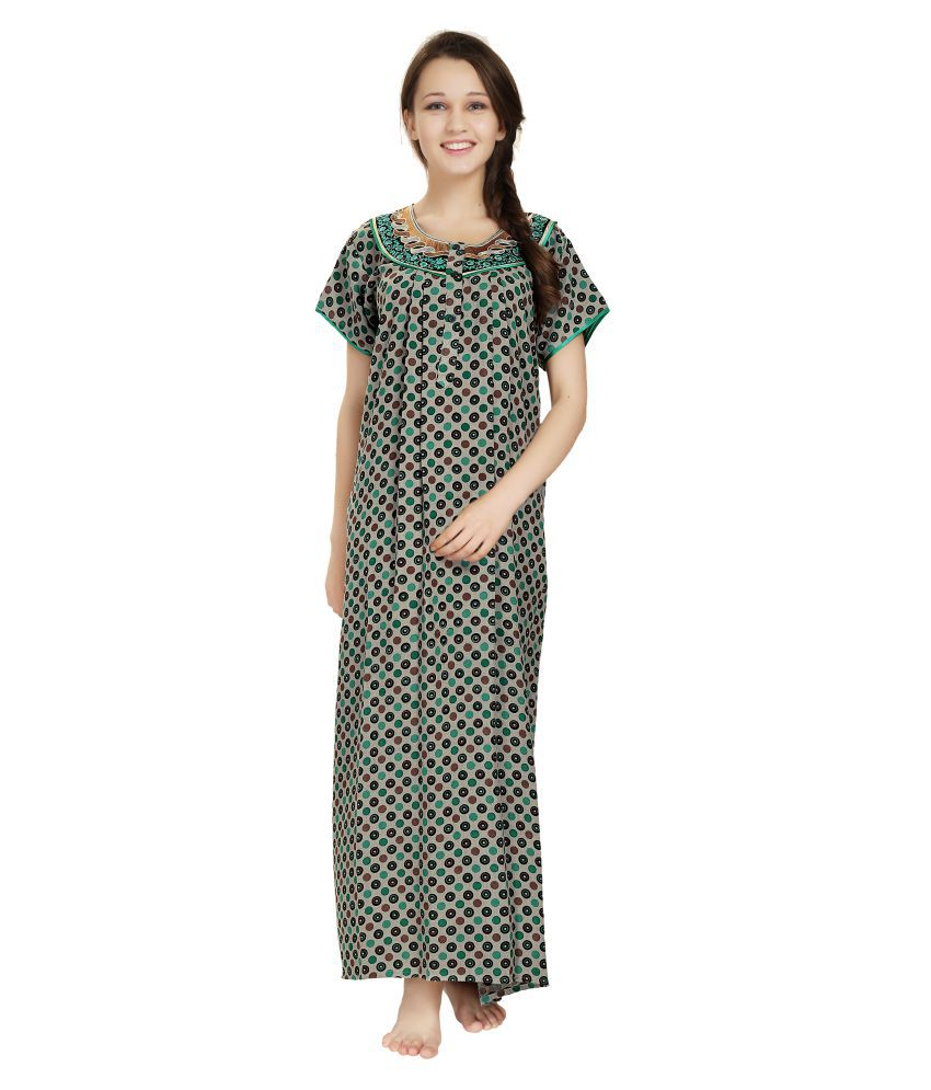 f762197ce3 Buy AV2 Multi Color Cotton Nighty   Night Gowns Online at Best Prices in  India - Snapdeal