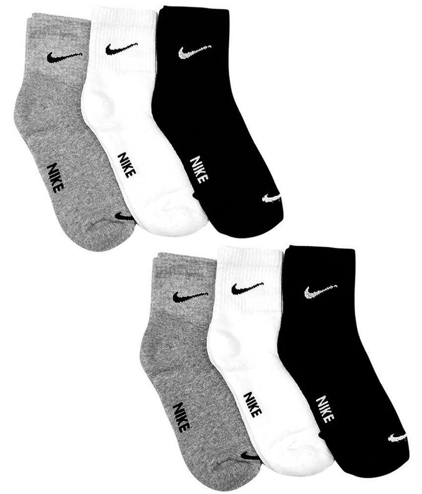 Nike Multi Casual Ankle Length Socks - Pair of 6