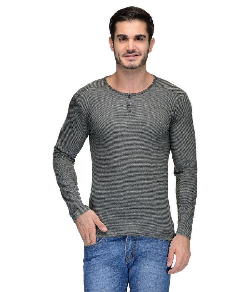 Teesort Grey Henley T-Shirt