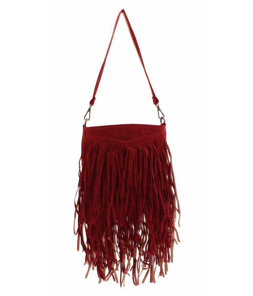 Designer Desk Red P.U. Sling Bag
