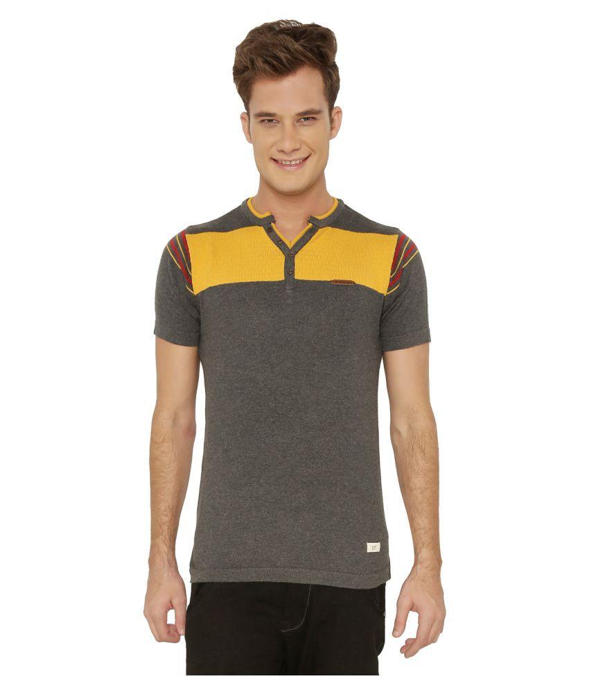 ME mercury  Grey Henley T-Shirt