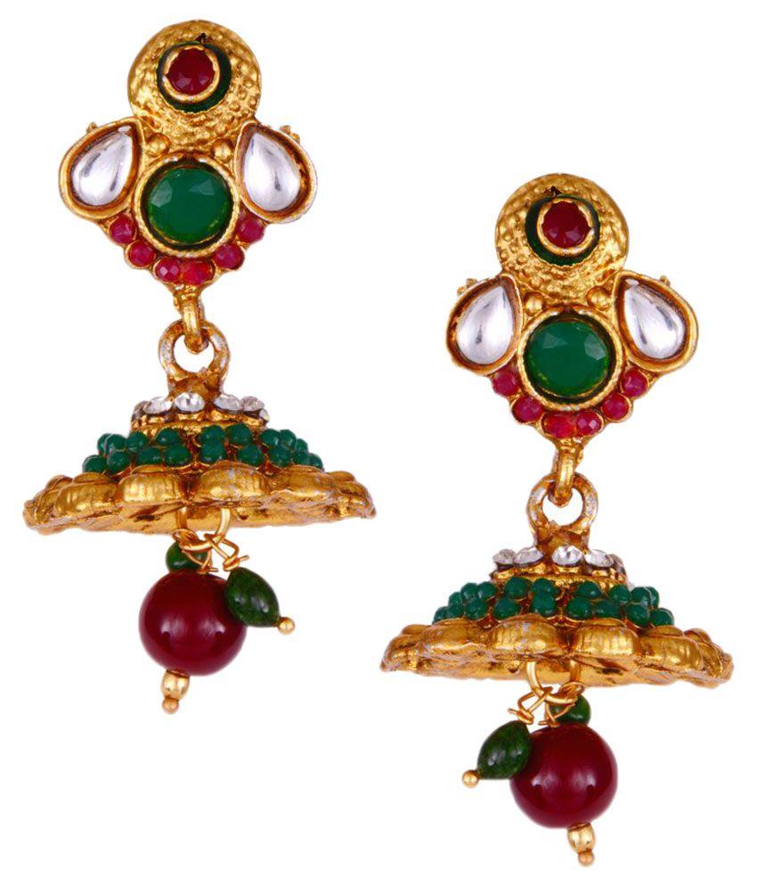Prisha Multicolour Jhumki Earring