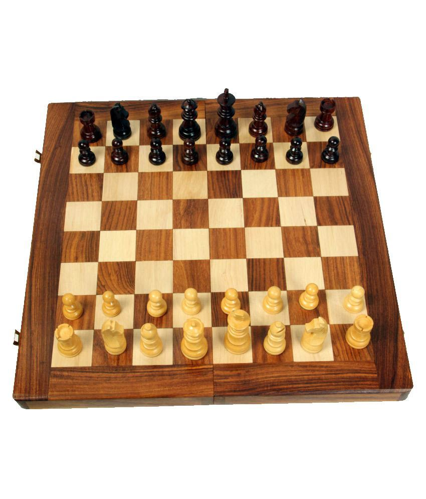 Woodpedlar Multicolor Wooden Chess Board