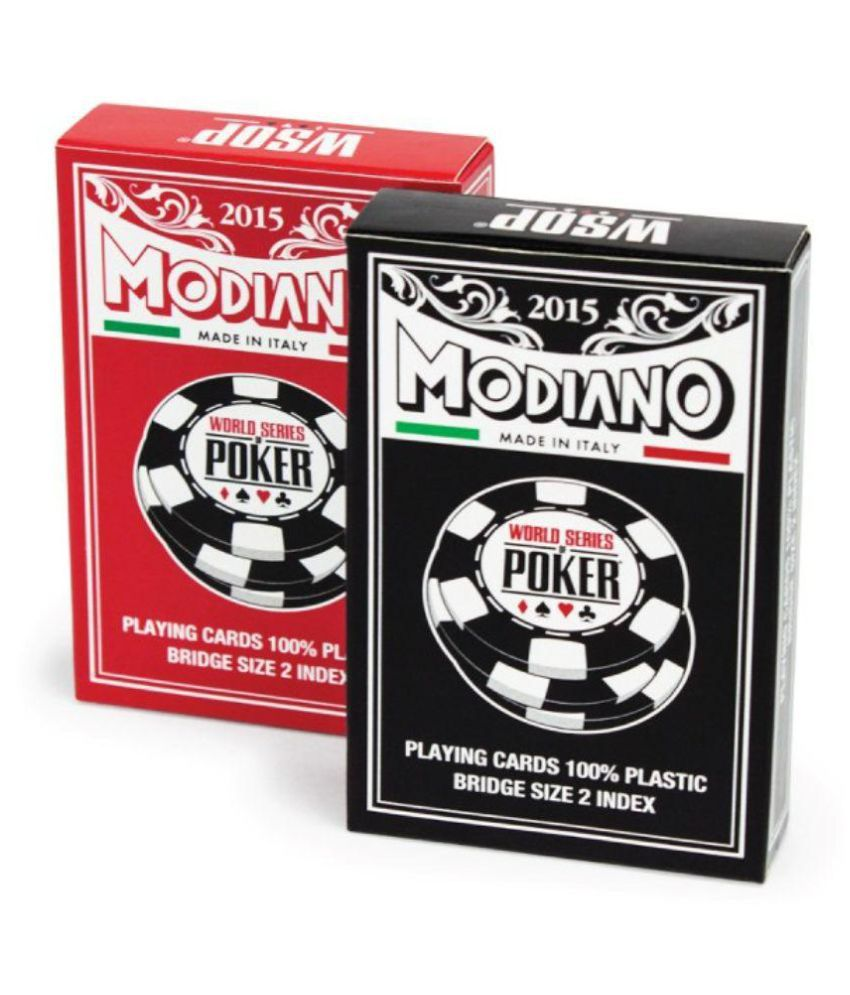 Modiano Red Plastic Playing Cards