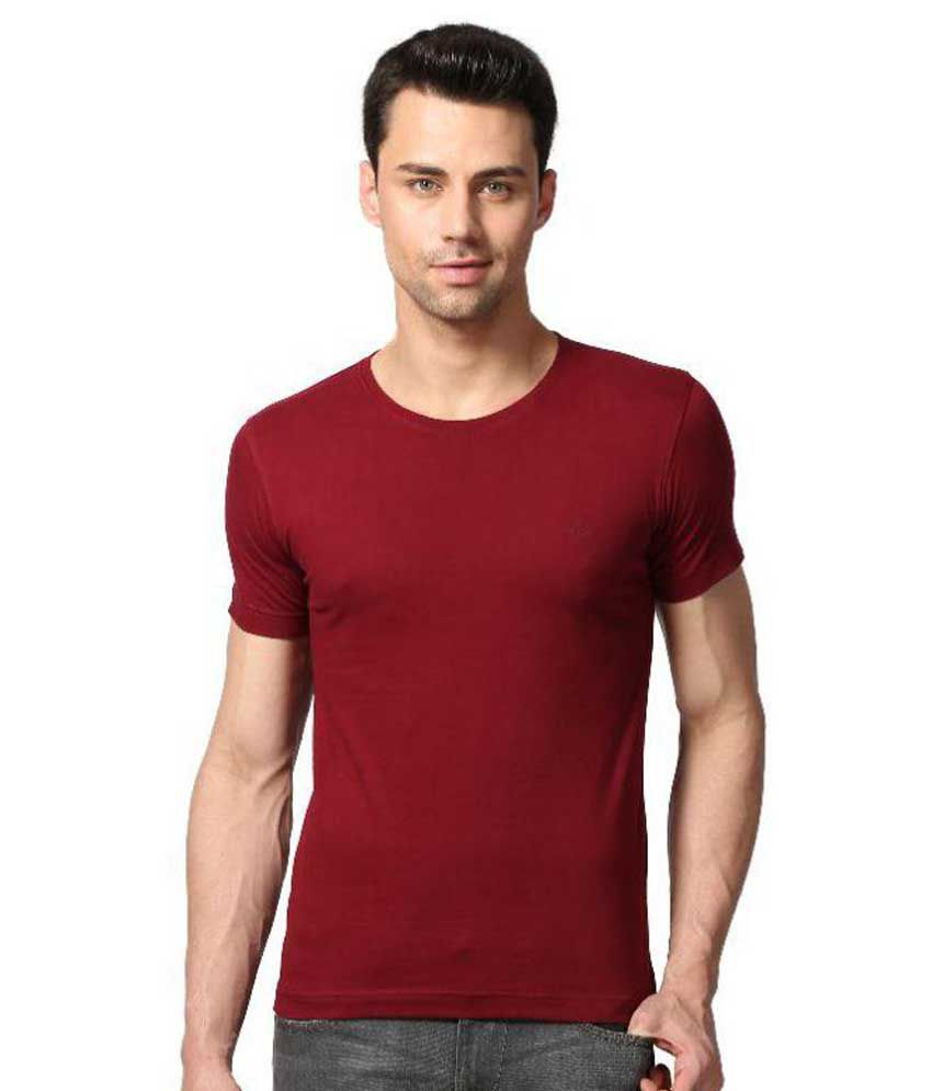 Goat Maroon Round T-Shirt