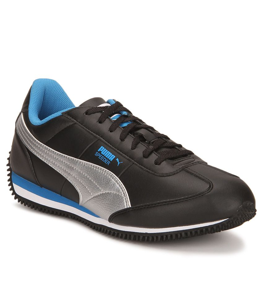 Puma Velocity Tetron II DP Black Silver Casual Shoes