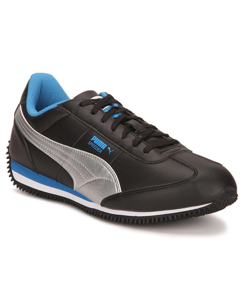 Puma Velocity Tetron II DP Black Silver Casual Shoes