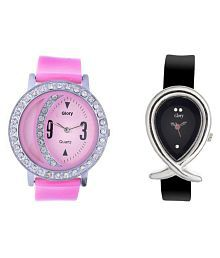 e694c9da9 Quick View. Glory Multicolour Leather Analog Women's Watch - Pack of 2
