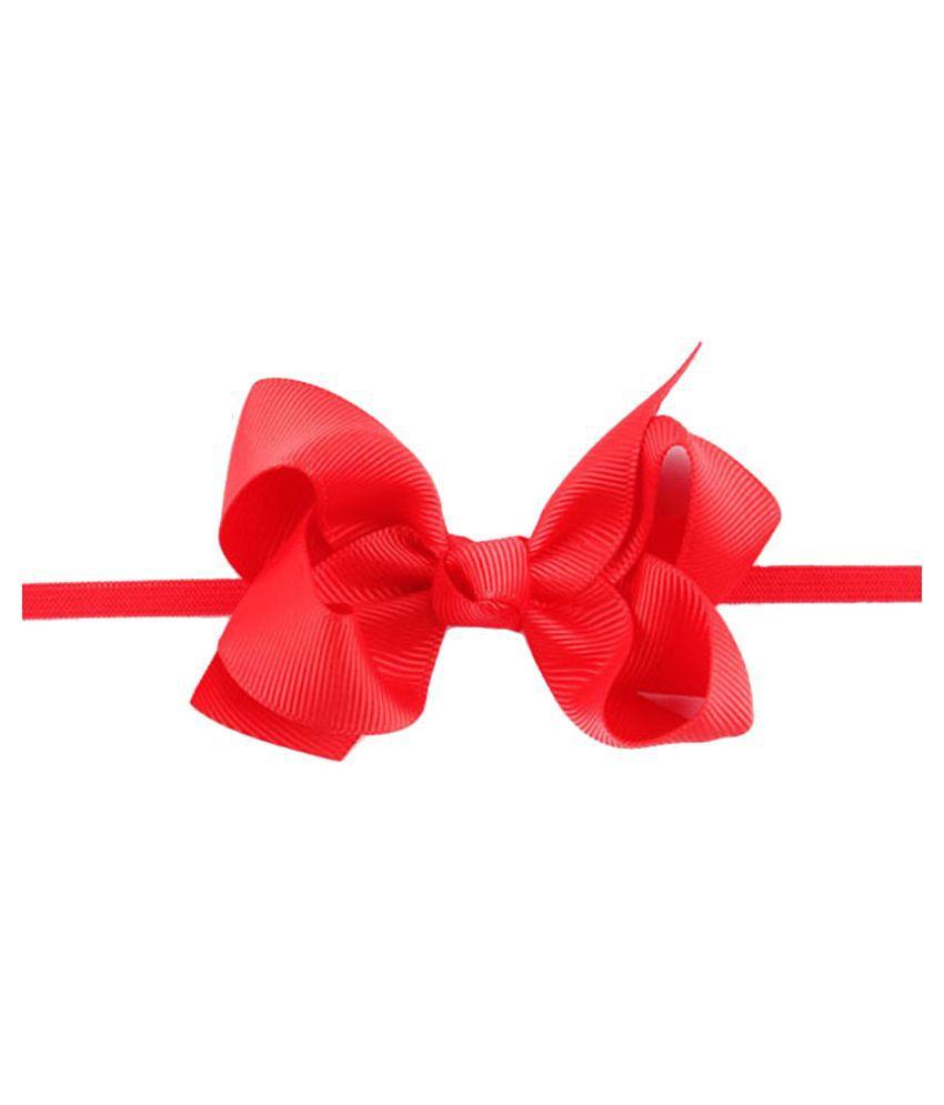 Bellazaara Red Ribbon Bow Headband