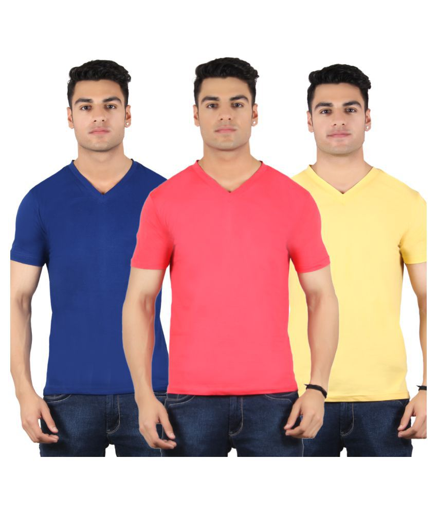 Diaz Multi V-Neck T-Shirt Pack of 3