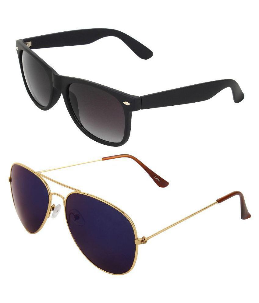 Zyaden Combo Multicolor Aviator Sunglasses - Pack of 2