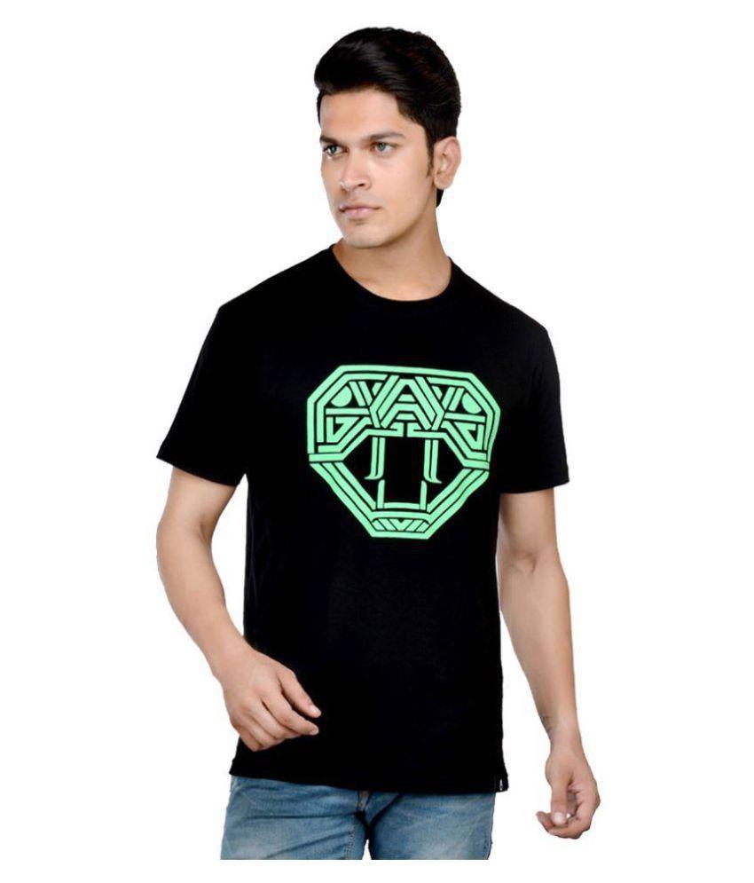 United Indian Black Round T-Shirt