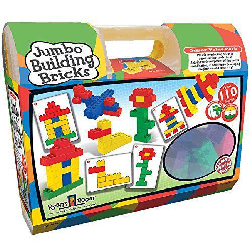 Small World Toys Jumbo Building Bricks (110-Piece) - Buy Small World