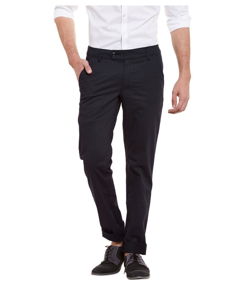 Canary London Black Regular Flat Trouser
