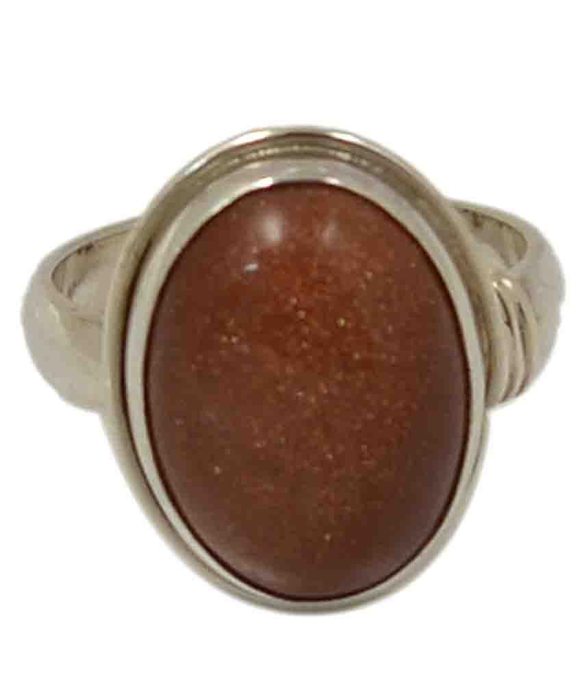 Manirathnum 92.5 Silver Sunstone Ring