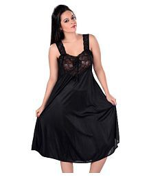 Quick View. Boosah Black Satin Baby Doll Dresses ... 63eb8073e