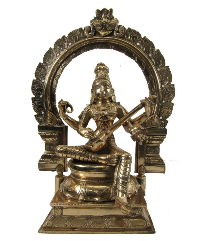 Indian Arts Museum Saraswati Brass Idol