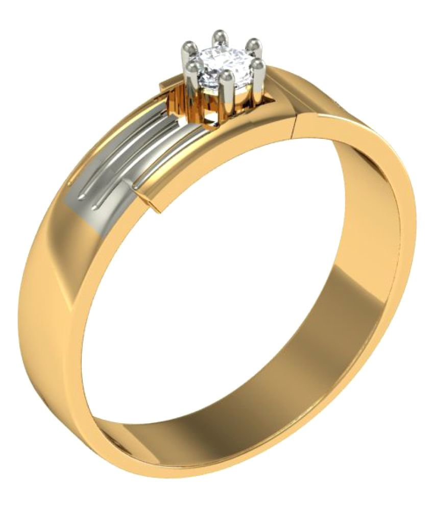 Jewelmantra 18k Gold Diamond Ring