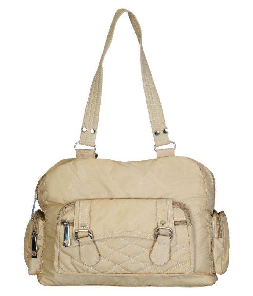 Belladona Beige Satin Shoulder Bag