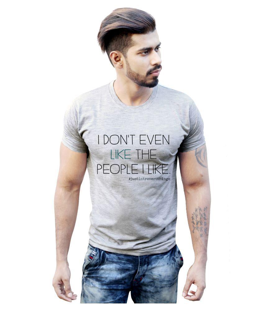 Bastard Tendencies Grey Round T-Shirt