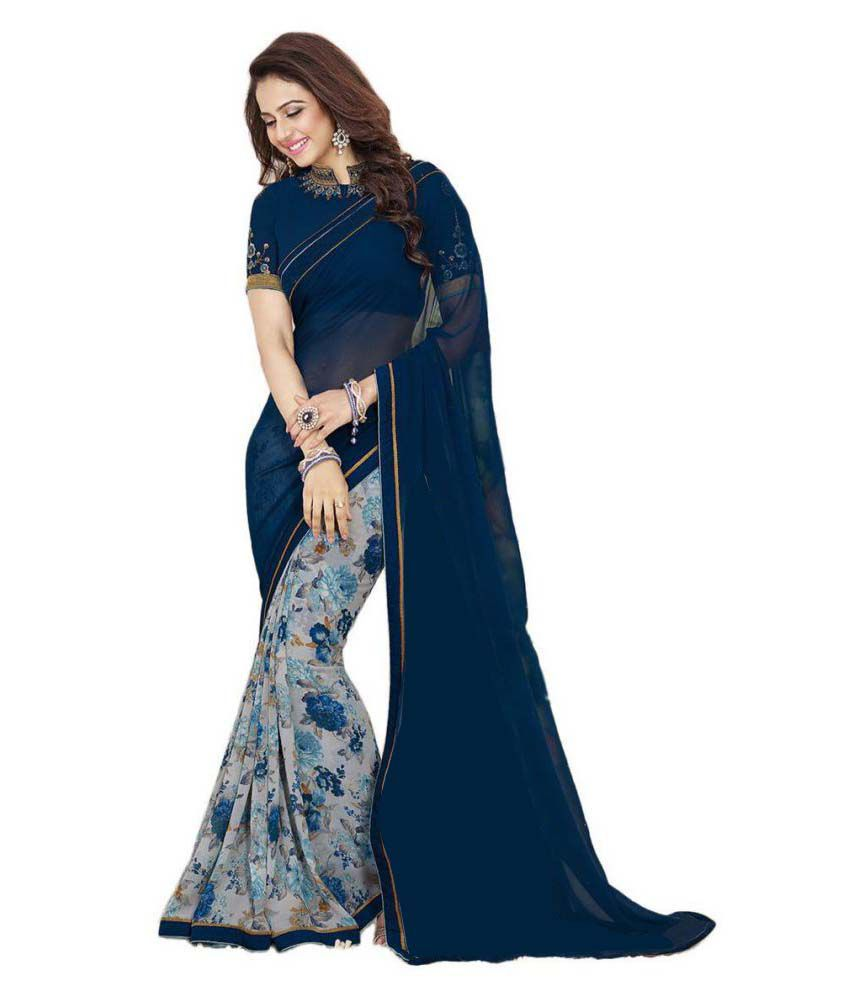Dolby Enterpise Multicoloured Georgette Saree
