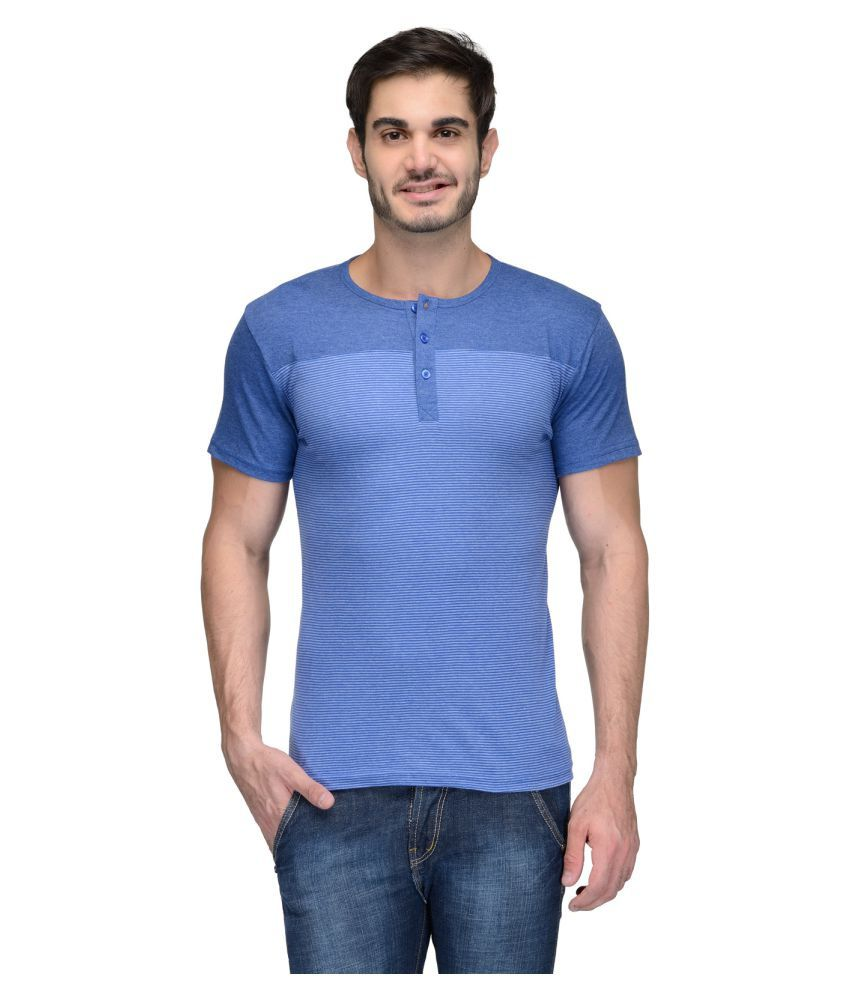 Teesort Blue Henley T-Shirt