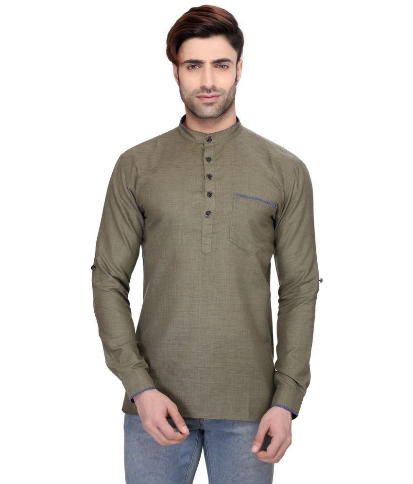 RG Designers Green Cotton Kurta