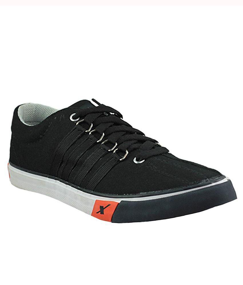 Sparx Black Canvas Shoes Art SM162BLK