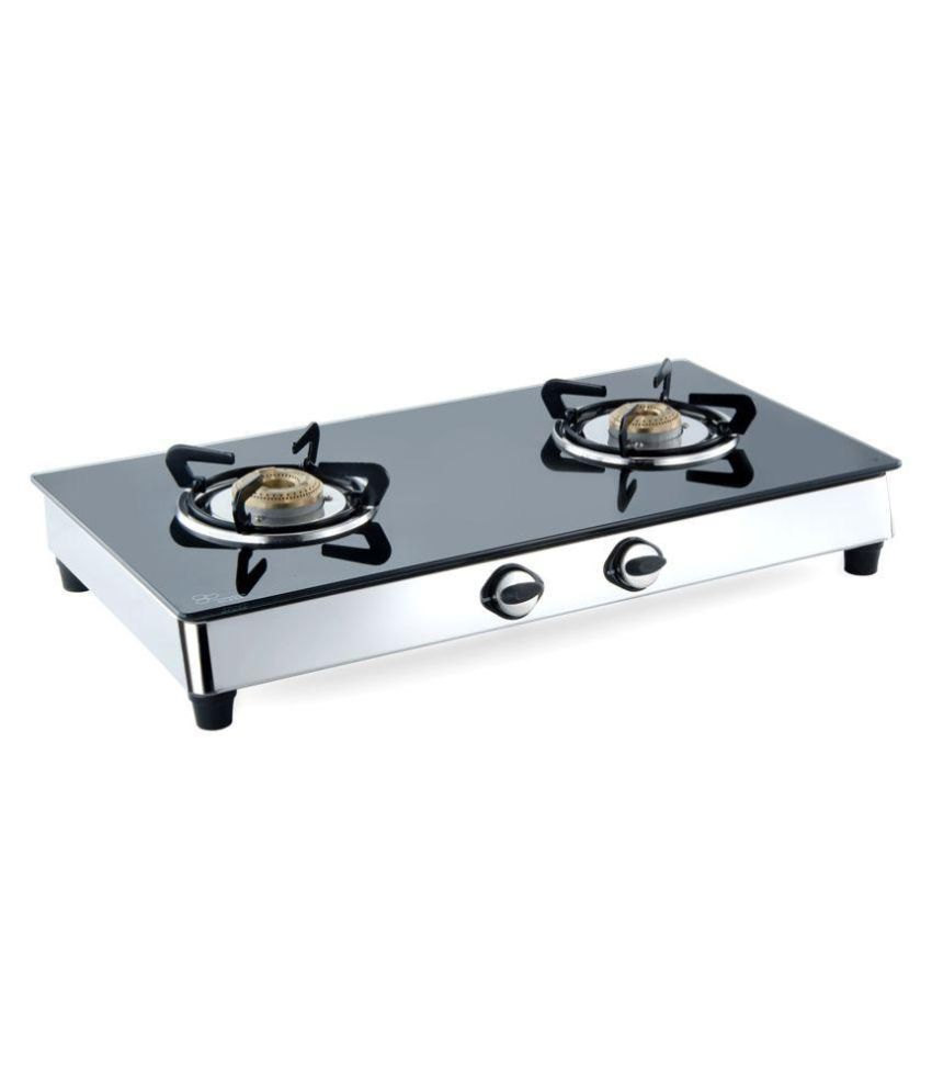Surya Benz Toughened Glass Gas Cooktop (2 Burner)