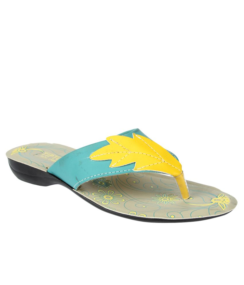 Tiptopp By Liberty Leaf Green Slippers