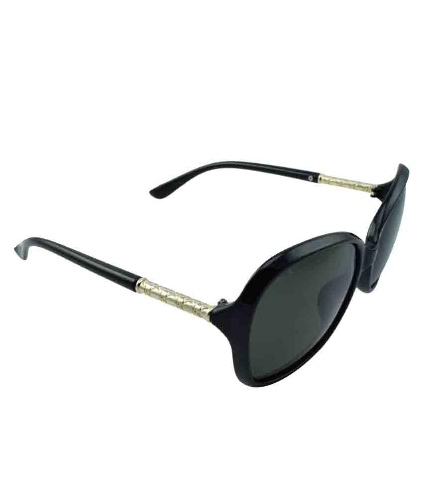 Polo House Usa Black Oval Sunglasses ( DBGldpolo5118black )