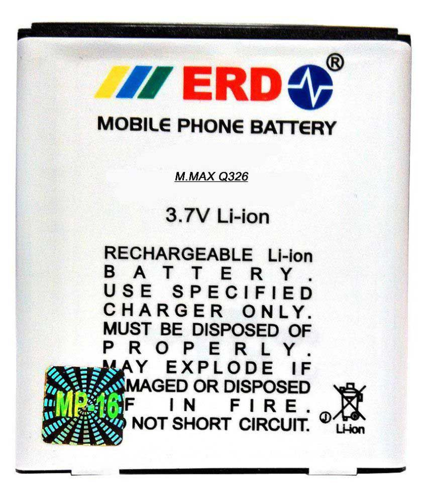 ERD 1100mAh Battery (For Micromax Bolt Q326)