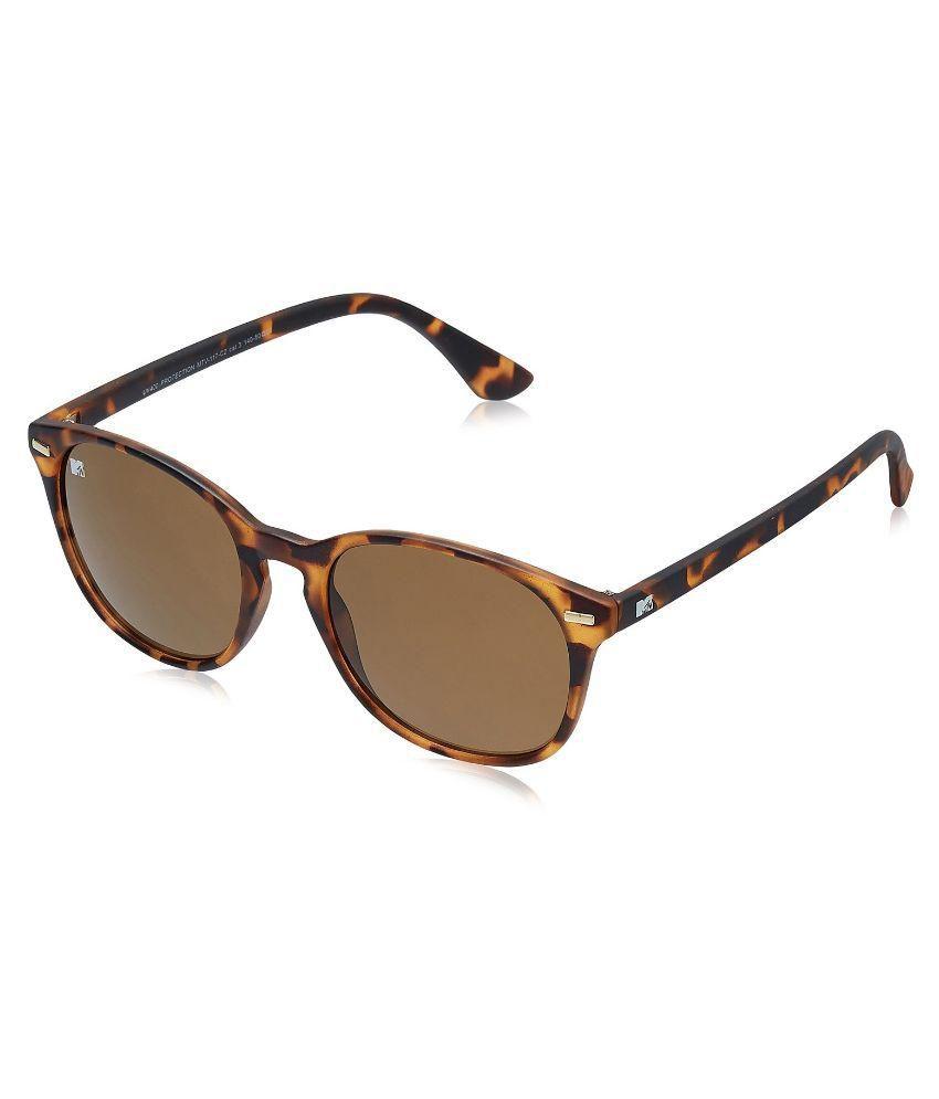 Mtv Brown Round Oversized Sunglasseses
