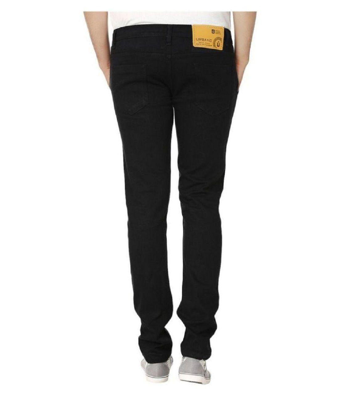 Urbano Fashion Black Slim Jeans - Buy Urbano Fashion Black Slim ...