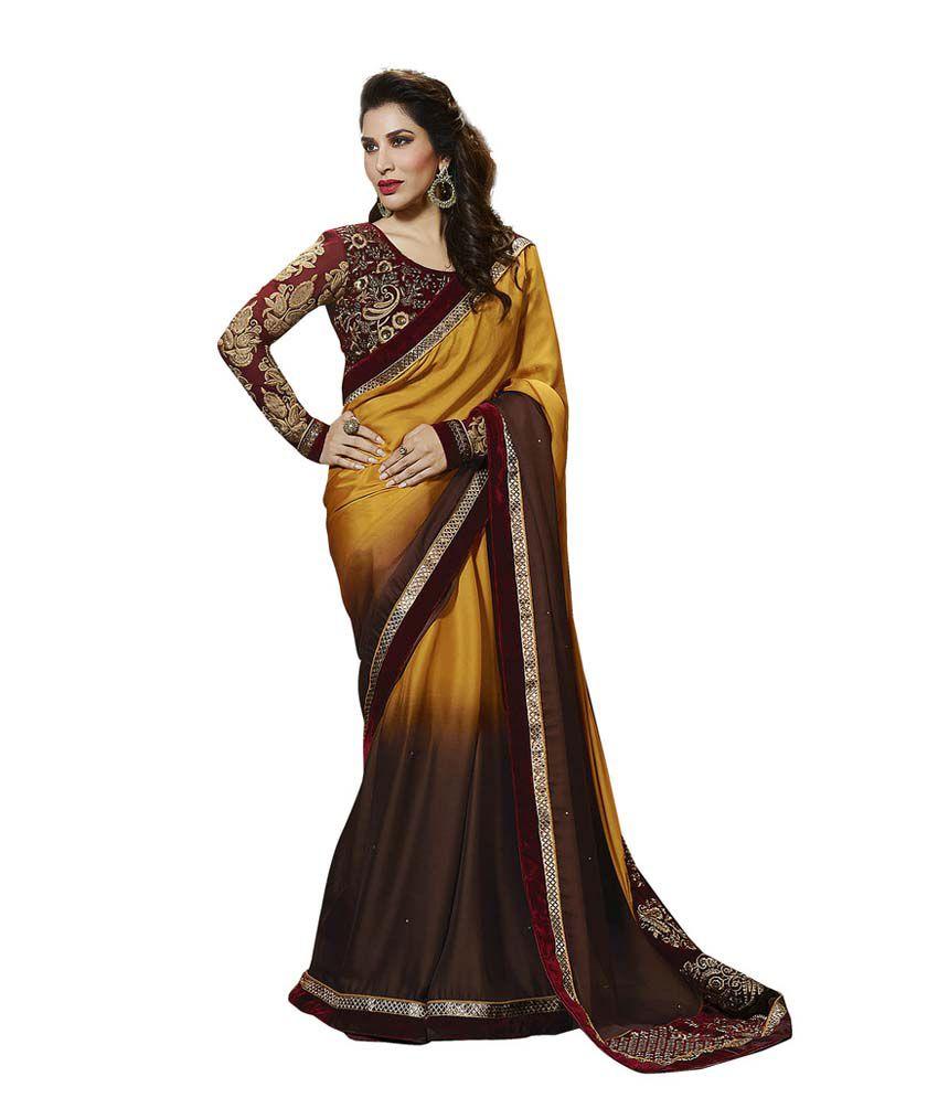 Manish Creation Multicoloured Satin Saree