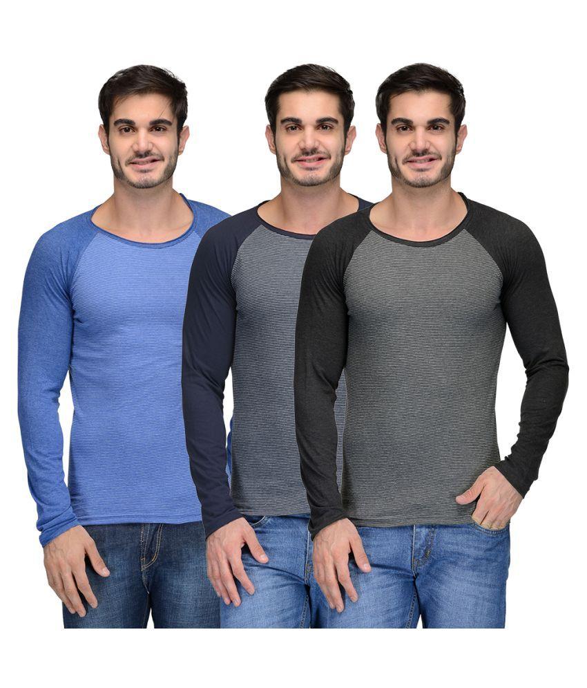 Teesort Multi Round T-Shirt Pack of 3