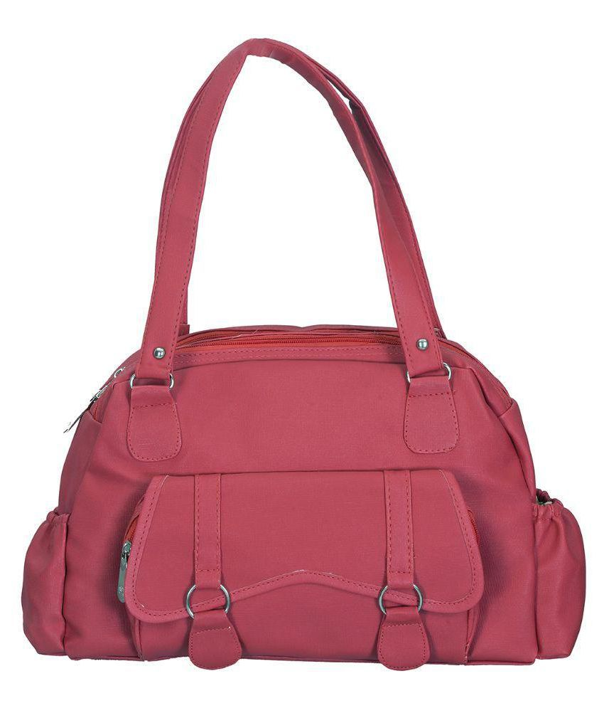 Belladona Pink Faux Leather Shoulder Bag