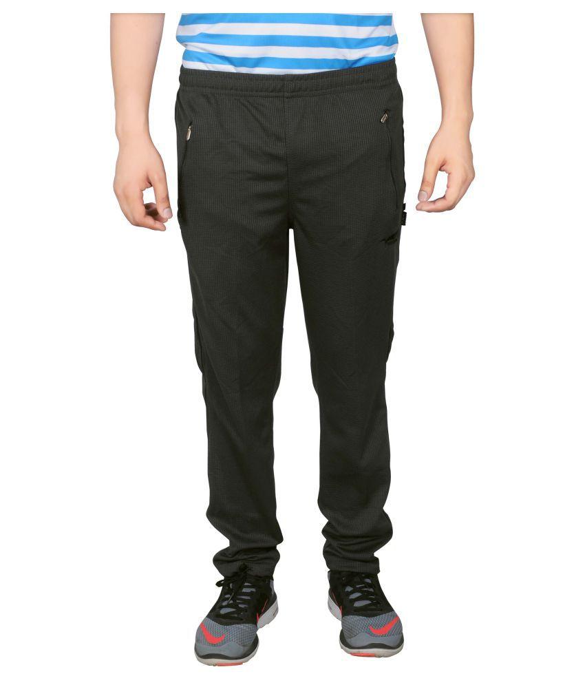 NNN Black Polyester Bottomwear