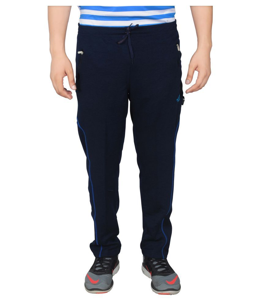 NNN Navy Blue Polyester Trackpants
